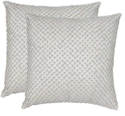 Safavieh Silver Metals Temy Pillows Set of 2