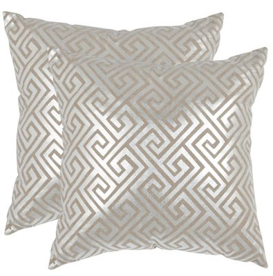 Safavieh Silver Jayden Pillows Set of 2