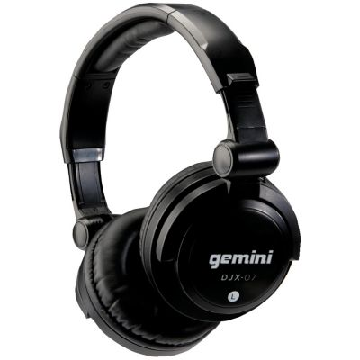 Gemini Black Professional DJ Headphones