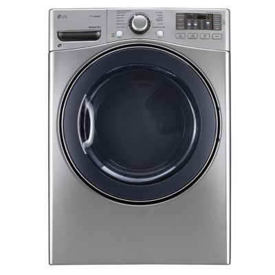 LG 7.4 Cu. Ft. Graphite Steel TrueSteam™ Electric Dryer (Pedestal Sold Separately)