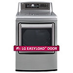 LG 7.3 Cu. Ft. Graphite Steel TrueSteam® EasyLoad™ Door Electric Dryer