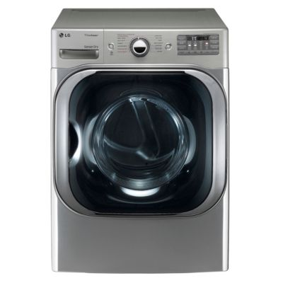 LG 9 Cu. Ft. Graphite Steel TrueSteam™ Electric Dryer (Pedestal Sold Separately)
