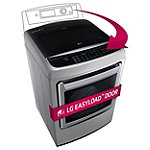 LG 7.3 Cu. Ft. Graphite Steel Steam EasyLoad™ Door Electric Dryer