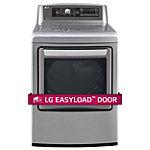 LG 7.3 Cu. Ft. Graphite Steel TrueSteam® EasyLoad™ Door Gas Dryer