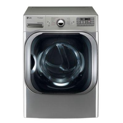 LG 9 Cu. Ft. Graphite Steel TrueSteam™ Gas Dryer (Pedestal Sold Separately)
