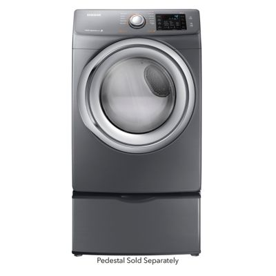 Samsung 7.5 Cu. Ft. Platinum Steam Gas Dryer (Pedestal Sold Separately)