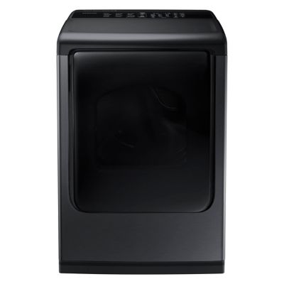 Samsung 7.4 Cu. Ft. Black Stainless Steel Steam Gas Dryer