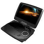 Impecca Black 9' Swivel Portable DVD Player
