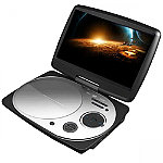Impecca White 9' Swivel Portable DVD Player