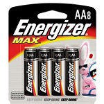 Energizer 8-Pack AA Alkaline MAX® Batteries No price available.