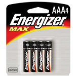 Energizer 4-Pack AAA Alkaline MAX® Batteries No price available.