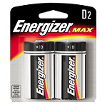 Energizer 2-Pack 'D' Alkaline MAX® Batteries No price available.
