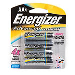 Energizer AA Advanced Lithium Battery 4-Pack 8.99