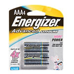 Energizer AAA Advanced Lithium Battery 4-Pack 8.99