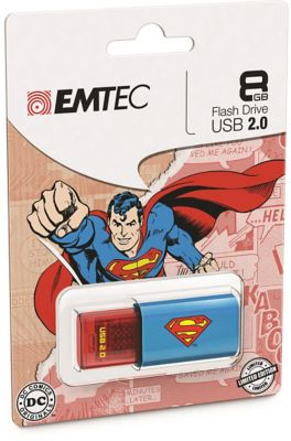 EMTEC 8GB Superman Logo USB Flash Drive
