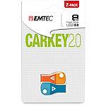 EMTEC 8GB Car Key USB 2.0 Flash Drive/2-Pack