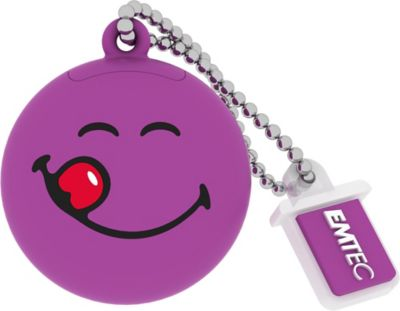 EMTEC 8GB Purple Smiley World Yum Yum USB Flash Drive