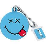 EMTEC 8GB  Blue Smiley World Happy Days USB Flash Drive