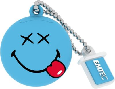 EMTEC 8GB  Blue Smiley World Happy Days USB Flash Drive