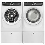 Electrolux 4.3 Cu. Ft. Front-Load Washer and 8 Cu. Ft. Perfect Steam™ Gas Dryer with 2 Pedestals