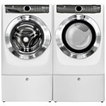 Electrolux 4.4 Cu. Ft. Perfect Steam™ Front-Load Washer and 8 Cu. Ft. Gas Dryer with 2 Pedestals