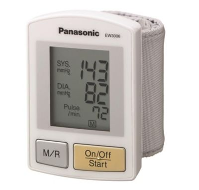 Panasonic Wrist Blood Pressure Monitor with Hypertension Alert