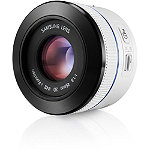 Samsung White 45mm f1.8 2D/3D NX Camera Lens 499.99