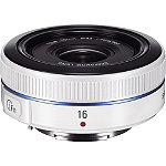 SamsungWhite 16mm f2.4 Pancake Ultra-Wide Angle NX Camera Lens 349.99