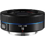 Samsung Black 16mm f2.4 Pancake Ultra-Wide Angle NX Camera Lens 349.99