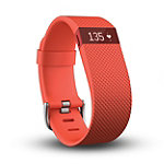 Fitbit Charge HR Large Tangerine Wireless Heart Rate + Activity Wristband