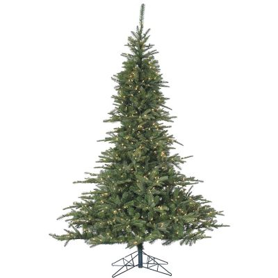 Fraser Hill Farm 7.5 Ft. Cluster Pine Artificial Christmas Tree with Clear LED String Lighting