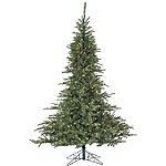 Fraser Hill Farm 7.5 Ft. Cluster Pine Artificial Christmas Tree with Multi-Color LED String Lighting