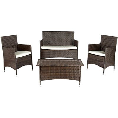 Safavieh Brown 4-Piece Mojavi Patio Set