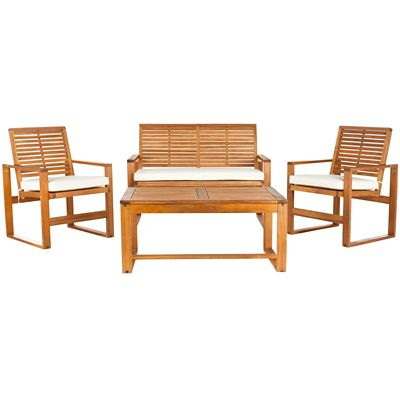 Safavieh Natural 4-Piece Ozark Patio Set