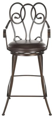 Safavieh Brown Montrouge Swivel Bar Chair