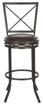 Safavieh Brown Pantin Swivel Bar Chair