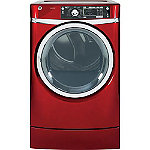 GE 8.3 Cu. Ft. Red Steam RightHeight™ Design Gas Dryer