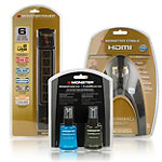 Monster Cable 8' Gold HDMI Cable with 6-Outlet Surge Protector and Screen Cleaner