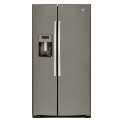 GE 25.4 Cu. Ft. Slate Side-by-Side Refrigerator