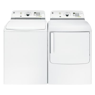 GE 4.6 Cu. Ft. High-Efficiency Top-Load Washer and 7.8 Cu. Ft. Electric Dryer