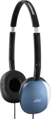 JVC Blue Flat Foldable Headphones