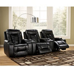 Home Solutions 3-Piece Ebony DuraBlend® Power Home Theater Recliner Package No price available.