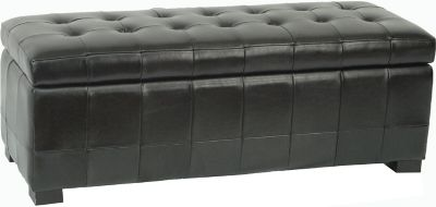 Safavieh Black Manhattan Large Storage Bench