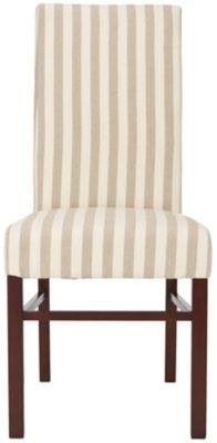 Safavieh Tan Striped Classic Dining Chairs Set of 2
