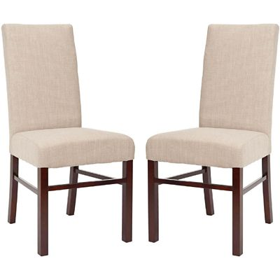 Safavieh Taupe Classic Dining Chairs Set of 2
