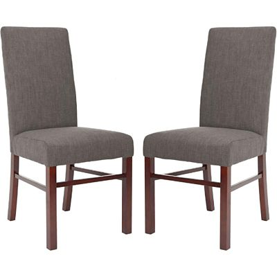 Safavieh Charcoal Brown Classic Dining Chairs Set of 2