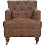 Safavieh Brown Colin Tufted Club Chair