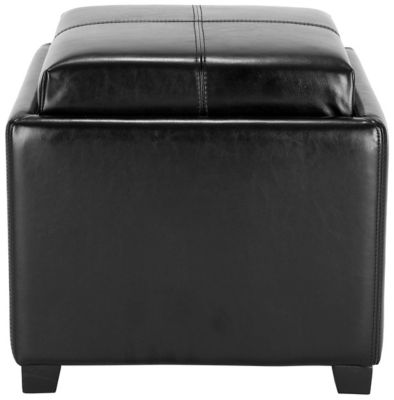 Safavieh Black Harrison Single Tray Ottoman
