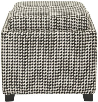 Safavieh Houndstooth Harrison Single Tray Ottoman