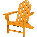 Hanover All-Weather Tangerine Contoured Adirondack Chair